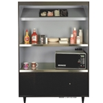 "DS492-4-HT-N/L - All State Condiment Stand- 49"" Wide W/1 Cutliary Tray"