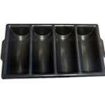 DS122S - Condiment Stand Cutlery Box- Black
