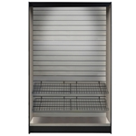 "ASMMS491DS - All-State Micro Market Stand Kit- Stainless, 78"" x 49"" x 12"""