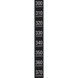 DS179 - National 147/157/167/181/187 Black Calorie Roll- 260 Through 500 Calories