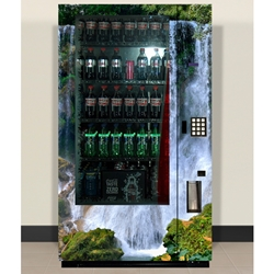 DS4025/500C-W - Royal 500 Waterfall Door Graphics Decal Set- Coke