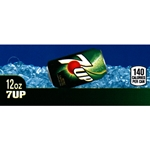 "DS427UP12 -  7UP Label (12oz Can with Calorie) - 1 3/4"" x 3 19/32"""