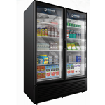 DS322 - Imbera VRD43 Double Door Cooler, Black on Black