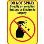 "DS3220 - Do Not Spray Directly on Buttons or Digital Display Cling-4"" x 2 3/4"""