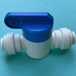 "DS2780 - John Guest 1/4"" Speedfit x 1/4"" Speedfit Straight Shut-Off Valve Fitting"