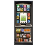 "ASMMS272KS - All-State Micro Market Kiosk/Stand Kit- Oak, 78"" x 27"" x 12"""