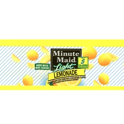 Minute Maid Light Lemonade Label  1 3/4